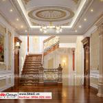 11 Thiết kế nội thất sảnh thang biệt thự lâu đài đẹp tại hà nội sh btld 0040
