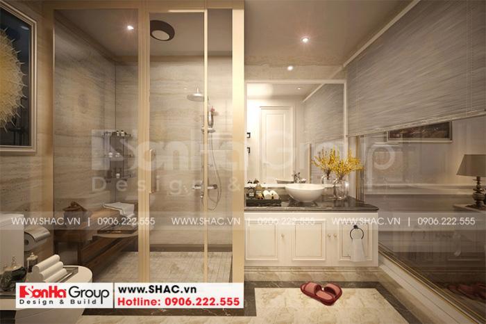 Thiết kế nội thất phòng tắm và vệ sinh tiện nghi chi phòng ngủ master