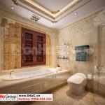 15 Bố trí nội thất phòng tắm wc biệt thự lâu đài mặt tiền 10,15m tại hà nội sh btld 0040