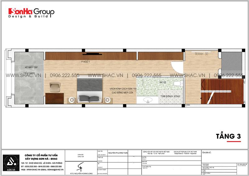 Mãn nhãn mẫu thiết kế nội thất nhà phố hiện đại 4 tầng 4x17m tại Hải Phòng 25