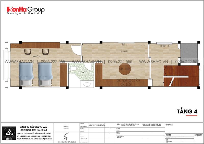 Mãn nhãn mẫu thiết kế nội thất nhà phố hiện đại 4 tầng 4x17m tại Hải Phòng 26