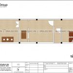 19 Mặt bằng nội thất tầng tum nhà ống tân cổ điển đẹp tại hải phòng