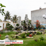 2 Ảnh thực tế sân vườn biệt thự mái thái tại hải phòng sh btp 0143