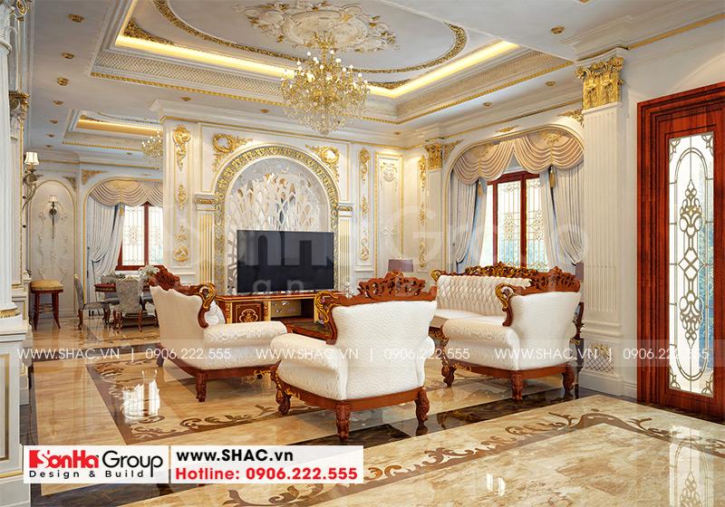 Biệt thự mái thái 1 tầng tân cổ điển diện tích 357,25m2 tại Vĩnh Long – SH BTP 0145 7