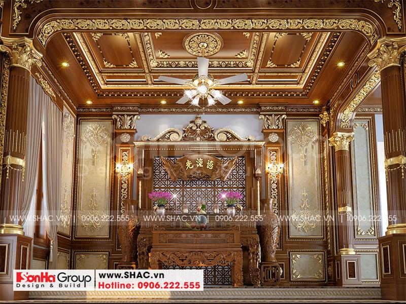Thiết kế biệt thự lâu đài cổ điển 3 tầng 1 tum diện tích 149,5m2  xa hoa nhất Hà Nội  - SH BTLD 0040 9