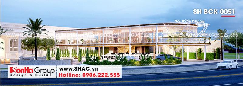 Thiết kế nhà hàng tiệc cưới hiện đại diện tích 26,2m x 45,1m tại Hải Phòng – SH BCK 0051 1