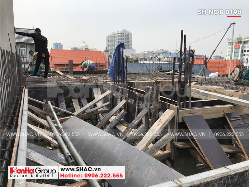 Thiết kế nhà ống bán biệt thự kiểu cổ điển Pháp 5 tầng 7,5m x 11,78m tại Hải Phòng – SH NOP 0198 26