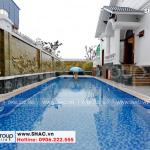 3 Ảnh thực tế bể bơi ngoài trời biệt thự sân vườn tại hải phòng sh btp 0143
