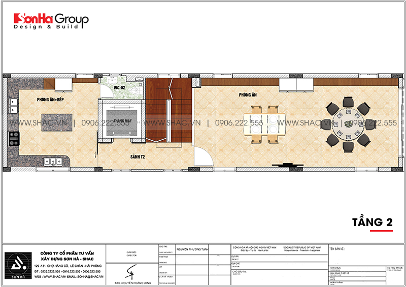 Nhà ống kết hợp kinh doanh tân cổ điển 109,14m2 x 6 tầng tại Hải Phòng - SH NOP 0197 4