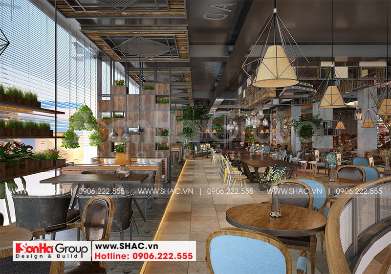 Không gian nội thất quán cafe sang trọng được thiết kế bởi Sơn Hà Group