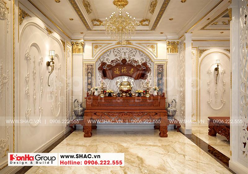 Biệt thự mái thái 1 tầng tân cổ điển diện tích 357,25m2 tại Vĩnh Long – SH BTP 0145 15