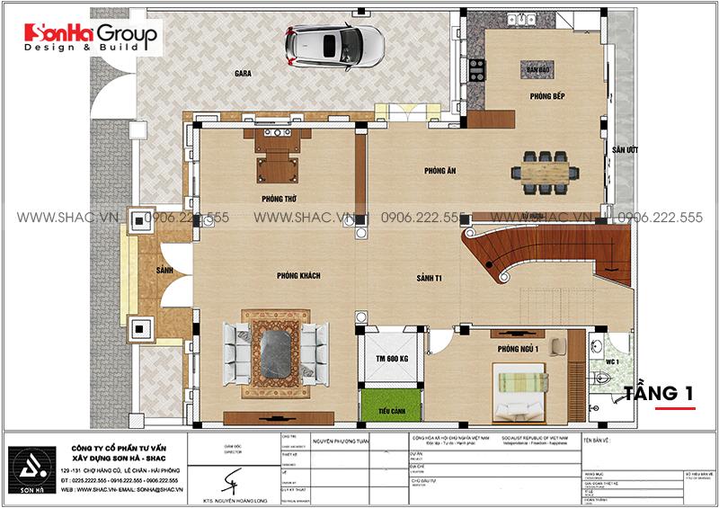 Thiết kế biệt thự lâu đài cổ điển 3 tầng 1 tum diện tích 149,5m2  xa hoa nhất Hà Nội  - SH BTLD 0040 3