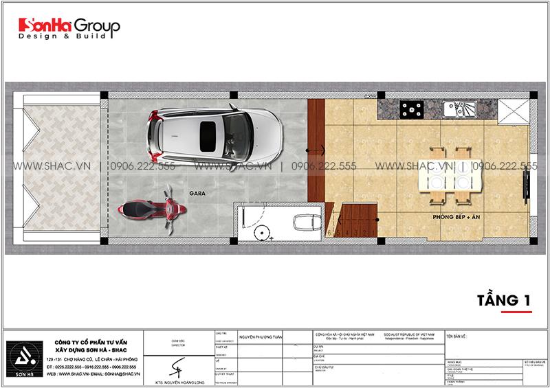 Nhà ống kiểu hiện đại 4 tầng 4,4m x 15m có gara ôtô trong nhà tại Quảng Ninh – SH NOD 0208 3