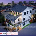 3 Phối cảnh biệt thự mái thái kiểu hiện đại tại quảng ninh btd 0077