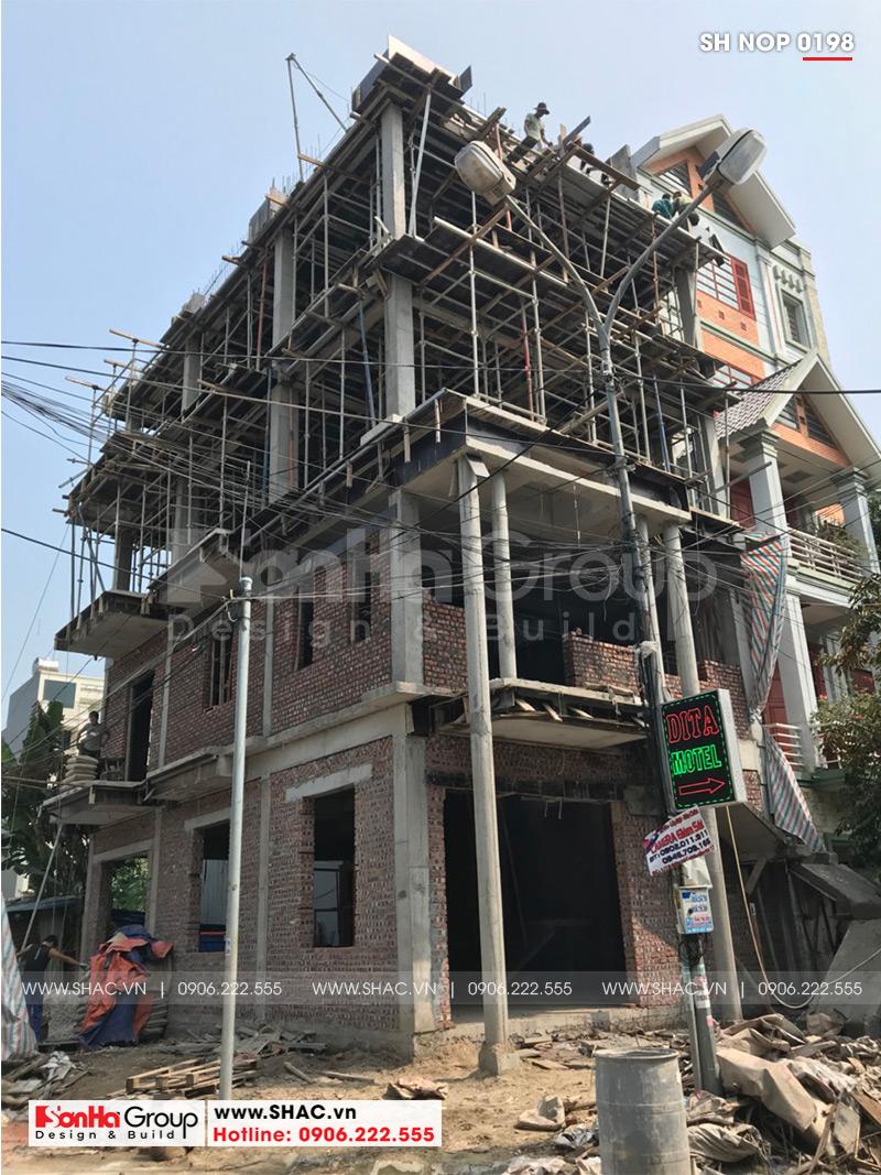 Thiết kế nhà ống bán biệt thự kiểu cổ điển Pháp 5 tầng 7,5m x 11,78m tại Hải Phòng – SH NOP 0198 22