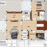 4 Bản vẽ tầng 2 biệt thự lâu đài phong cách châu âu tại hà nội sh btld 0040
