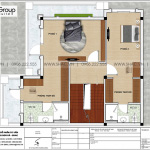 4 Bản vẽ tầng 2 biệt thự tân cổ điển đẹp tại hải phòng sh btp 0144