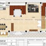 4 Bản vẽ tầng 2 nhà ống cổ điển pháp đẹp tại hải phòng sh nop 0198