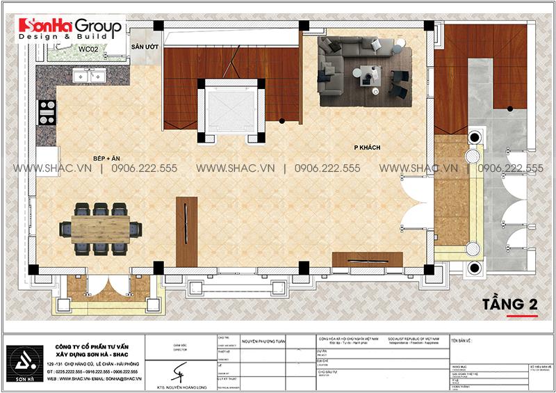 Thiết kế nhà ống bán biệt thự kiểu cổ điển Pháp 5 tầng 7,5m x 11,78m tại Hải Phòng – SH NOP 0198 4