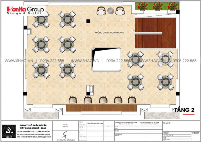 Bản vẽ mặt bằng công năng tầng 2 nhà ống tân cổ điển tại Nam Định