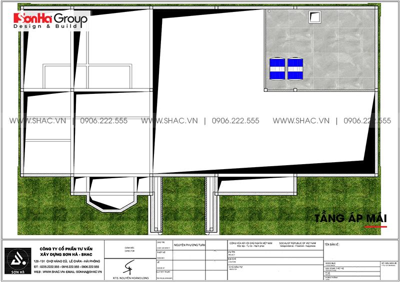 Biệt thự mái thái 1 tầng tân cổ điển diện tích 357,25m2 tại Vĩnh Long – SH BTP 0145 4