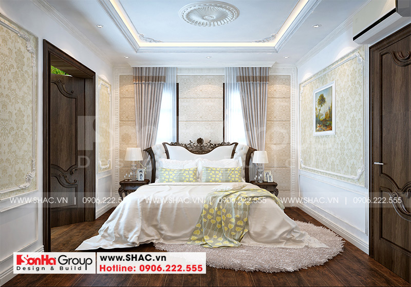 Thiết kế nhà ống bán biệt thự kiểu cổ điển Pháp 5 tầng 7,5m x 11,78m tại Hải Phòng – SH NOP 0198 18