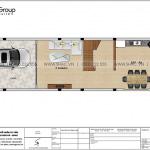 4 Mặt bằng công năng tầng 1 nhà ống kiểu pháp đẹp tại hải phòng sh nop 0195