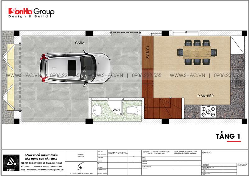 Nhà phố hiện đại 4 tầng mặt tiền 4m có gara ôtô tại Hải Phòng – SH NOD 0207 4