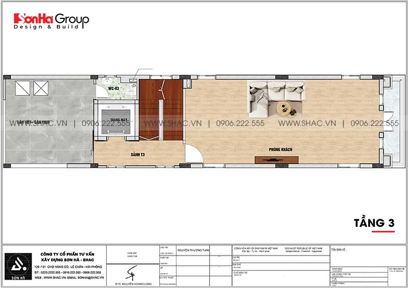 Nhà ống kết hợp kinh doanh tân cổ điển 109,14m2 x 6 tầng tại Hải Phòng - SH NOP 0197 5
