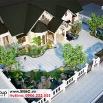 4 Thiết kế biệt thự sân vườn kiểu tân cổ điển tại hải phòng sh btp 0143