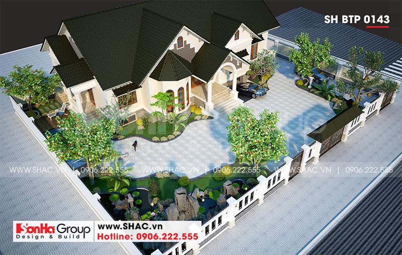 Mẫu biệt thự nhà vườn 1 tầng diện tích 22,86m x 10,16m tại Hải Phòng – SH BTP 0143 4