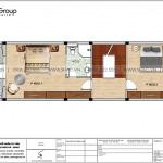 5 Bản vẽ tầng 2 nhà ống pháp 4 tầng tại hải phòng sh nop 0195