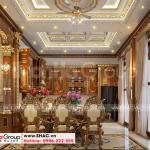 5 Bố trí nội thất phòng ăn biệt thự lâu đài mặt tiền 10,15m tại hà nội sh btld 0040