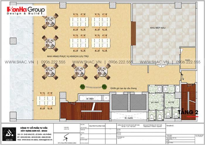 Mặt bằng công năng tầng 2 khách sạn 4 sao CN Palace Boutique Đà Nẵng