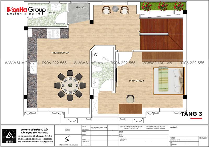 Mẫu nhà ống tân cổ điển 5 tầng kết hợp kinh doanh café tại Nam Định – SH NOP 0196 5