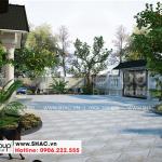 5 Mẫu sân vườn biệt thự kiểu tân cổ điển đẹp tại hải phòng sh btp 0143