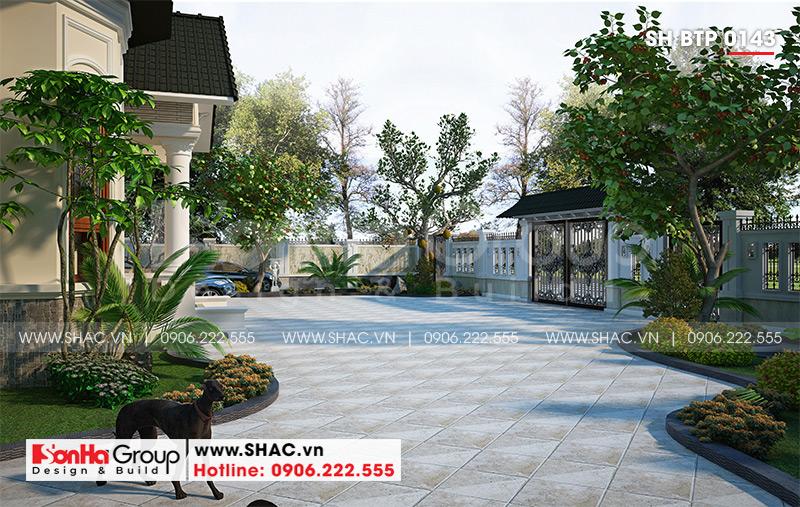 Mẫu biệt thự nhà vườn 1 tầng diện tích 22,86m x 10,16m tại Hải Phòng – SH BTP 0143 6
