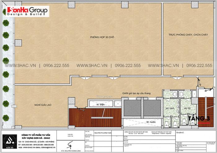 Mặt bằng công năng tầng 3 khách sạn 4 sao CN Palace Boutique Đà Nẵng
