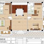 6 Bản vẽ tầng 4 nhà ống mặt tiền rộng kiểu cổ điển tại hải phòng sh nop 0198