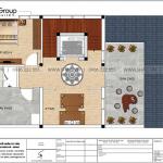 6 Mặt bằng tầng 3 biệt thự mái thái kiểu hiện đại tại quảng ninh sh btd 0077