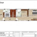 6 Mặt bằng tầng 5 nhà ống tân cổ điển 6 tầng tại hải phòng sh nop 0197