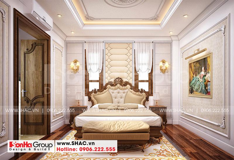 Thiết kế nhà ống bán biệt thự kiểu cổ điển Pháp 5 tầng 7,5m x 11,78m tại Hải Phòng – SH NOP 0198 16