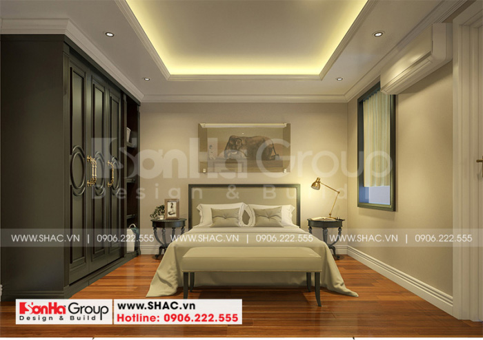 Ý tưởng thiết kế phòng ngủ nhà ống tân cổ điển được đánh giá cao