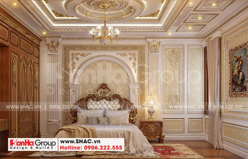 Thiết kế biệt thự lâu đài cổ điển 3 tầng 1 tum diện tích 149,5m2 xa hoa nhất Hà Nội - SH BTLD 0040 13