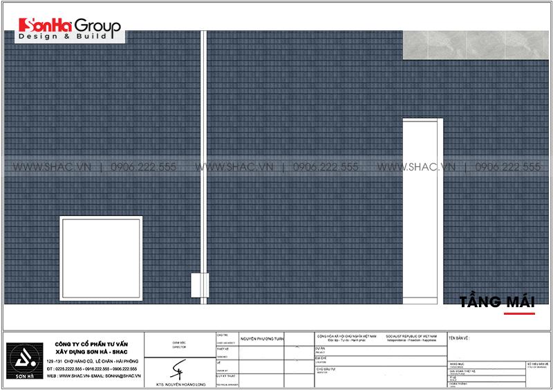 Biệt thự hiện đại mái thái 3 tầng diện tích 9m x 20m tại Quảng Ninh- SH BTD 0077 7