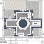 7 Mặt bằng tầng mái biệt thự lâu đài kiểu pháp tại hà nội sh btld 0040