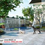 7 Thiết kế sân vườn biệt thự tân cổ điển mái thái tại hải phòng sh btp 0143