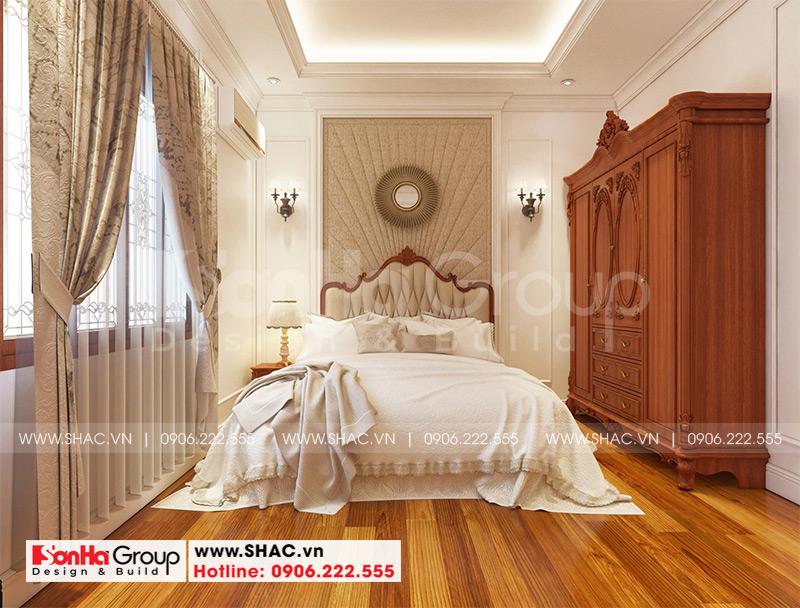 Biệt thự mái thái 1 tầng tân cổ điển diện tích 357,25m2 tại Vĩnh Long – SH BTP 0145 11