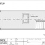 8 Mặt bằng tầng mái nhà ống 4 tầng kiểu pháp tại hải phòng sh nop 0195