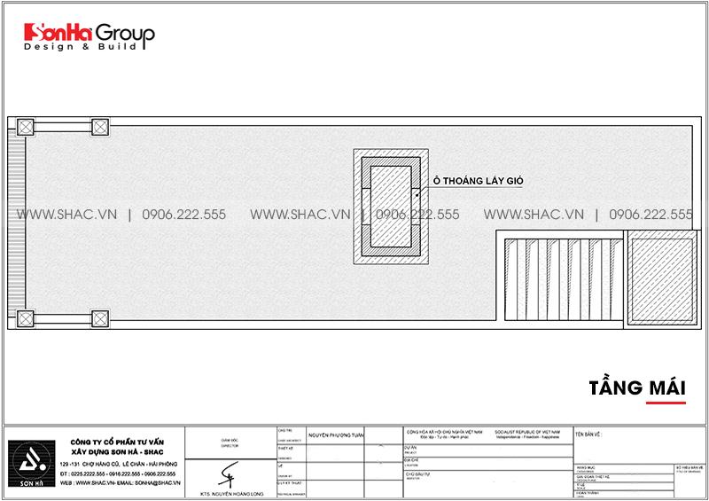Mẫu nhà ống đẹp kiểu Pháp 4 tầng diện tích 5,2x20m tại Hải Phòng – SH NOP 0195 8